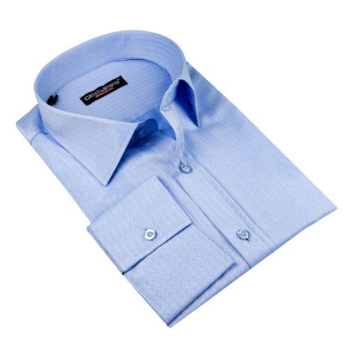 Svetlomodrá košeľa - klasický golier, dlhý rukáv