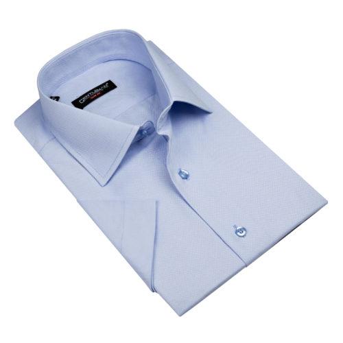 Svetlomodrá košeľa - klasický golier, krátky rukáv