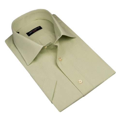 Svetlozelená košeľa - klasický golier, krátky rukáv