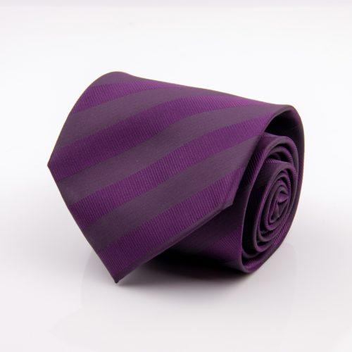 Tmavofialová kravata vzorovaná