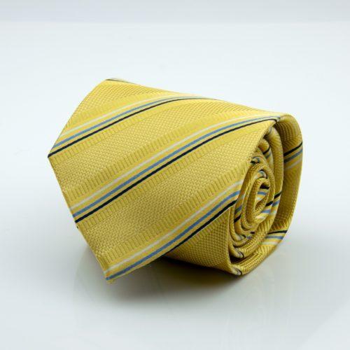 Žltá kravata vzorovaná