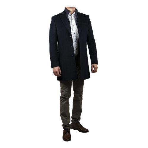 Tmavomodrý kabát s odnímateľnou tepelnou vložkou 6113 C15 6